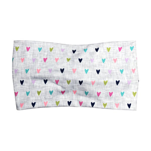 Women's Wide Rainbow Heart Twist Headband - Gray