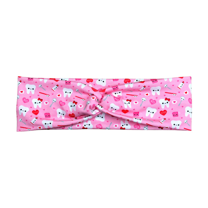 Women's Valentine's Happy Teeth Headband - Pink