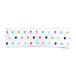 White Rainbow Heart Headband