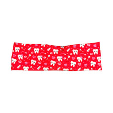 Women's Valentine's Happy Teeth Headband - Red