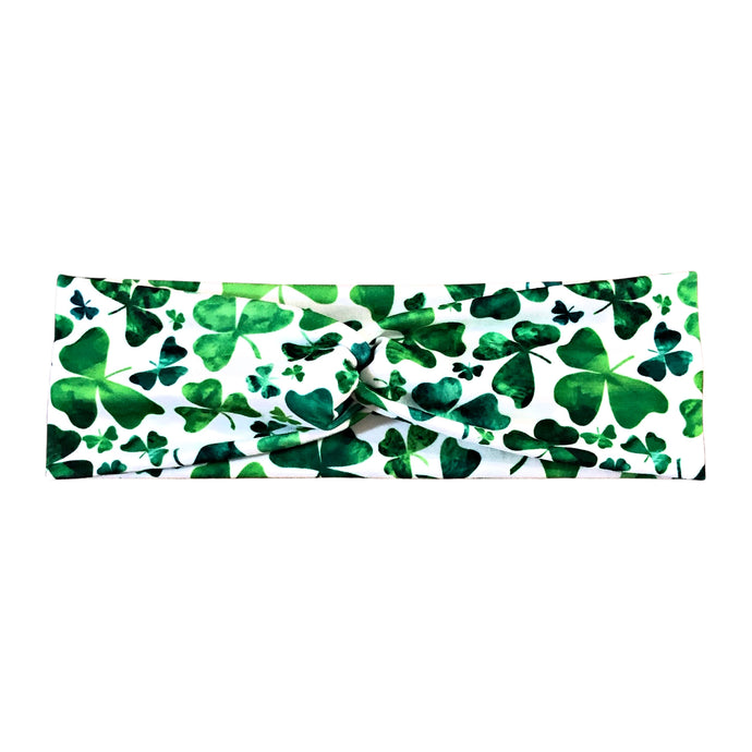 Women's St Patrick's Day Clover Headband - White and Green
