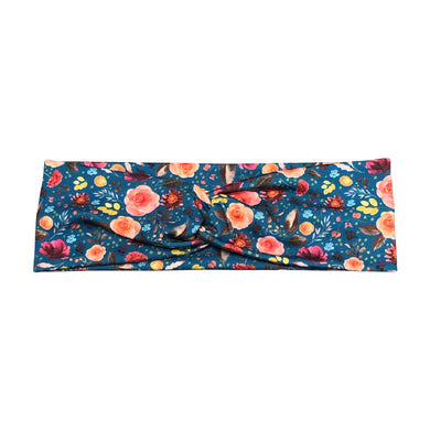 Women's Teal Flower Twist Headband