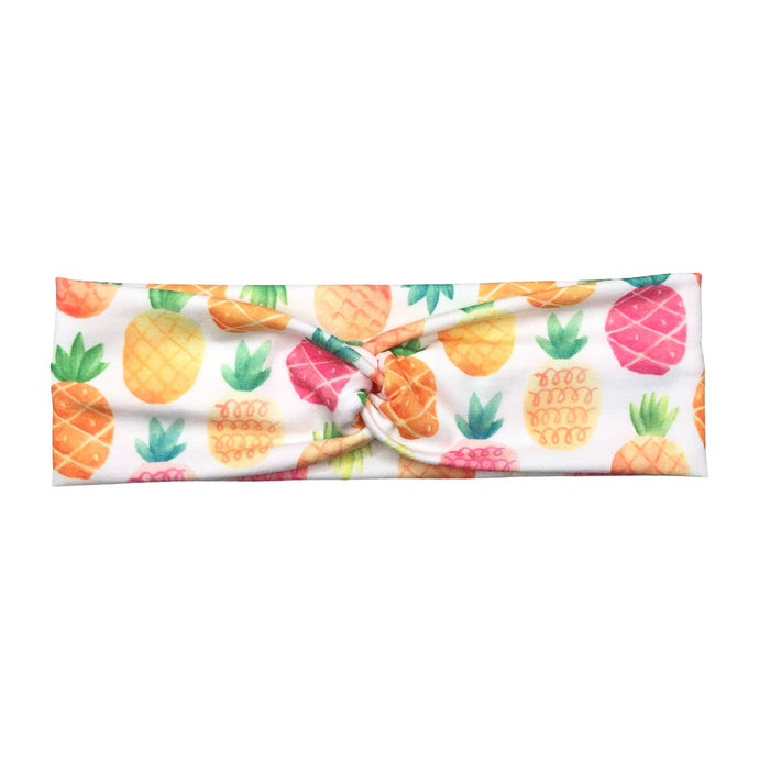 Women's Rainbow Pineapple Headband - White