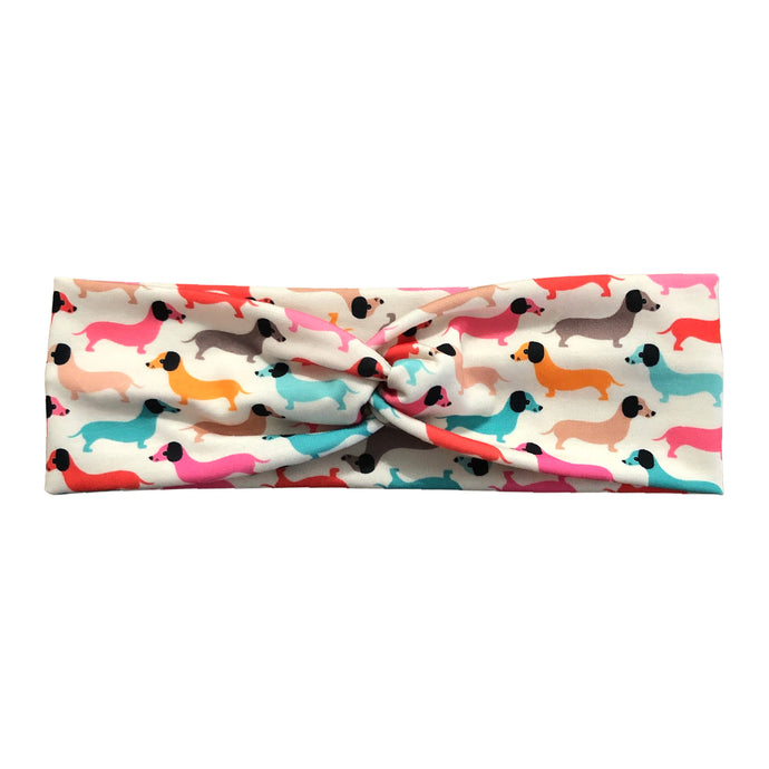 Women's Rainbow Dachshund Parade Headband