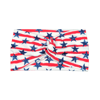 Women's Stars and Stripes Wide Turban Headbad