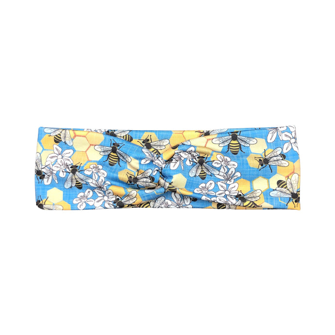 Women's Honey Bee Knot Headband, Blue