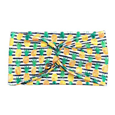Women's Wide Striped Pineapple Headband