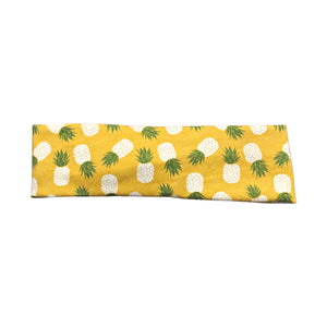 Mustard Yellow Pineapple Twist Headband for Women