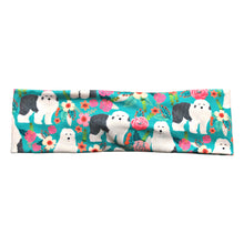 English Sheepdog Floral Twist Headband for Women