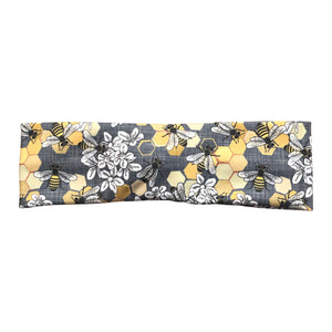 Honey Bee Knot Headband, Gray