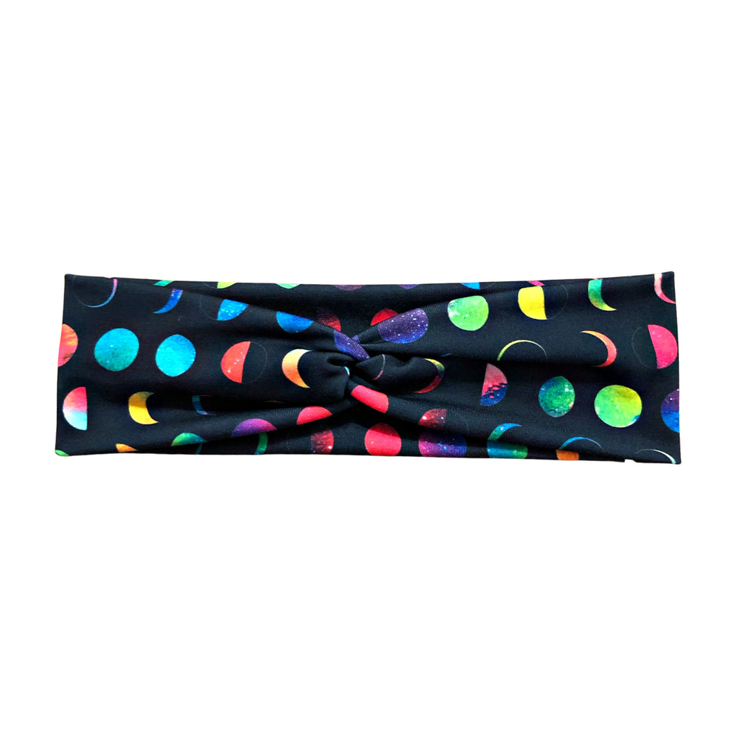 Women's Rainbow Moon Phases Headband