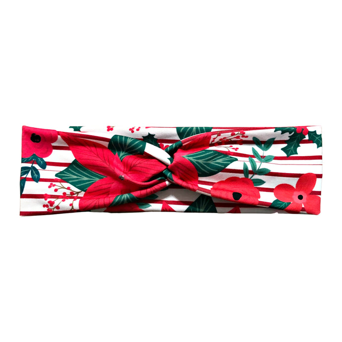 Christmas Poinsettia Flower Headband