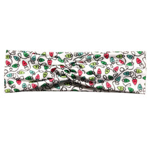 White Christmas String Lights Knot Fabric Headband