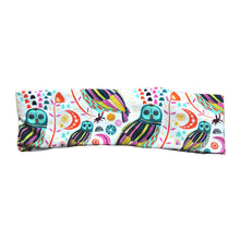 Colorful Peacock Owl Fabric Headband