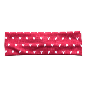 Women's Valentine's Day Heart Headband - Red and White