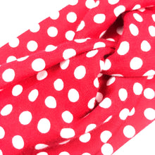 Red and White Polka Dot Fabric Headband