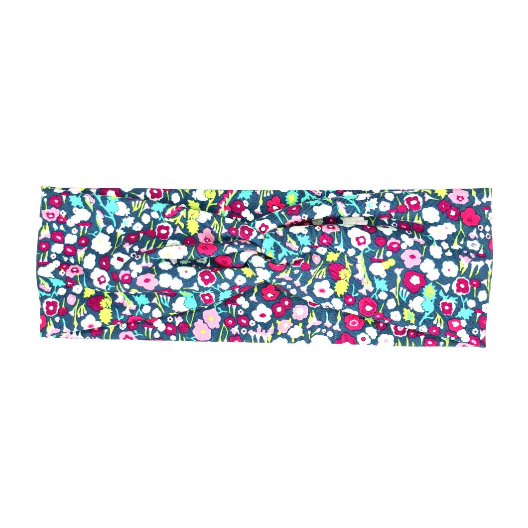 Colorful Floral Fabric Twist Headband