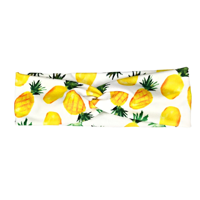 Women's Tropical Pineapple Headband - White