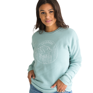 Colorado Sweatshirt - Mint Blue - Unisex - Shop Back Home