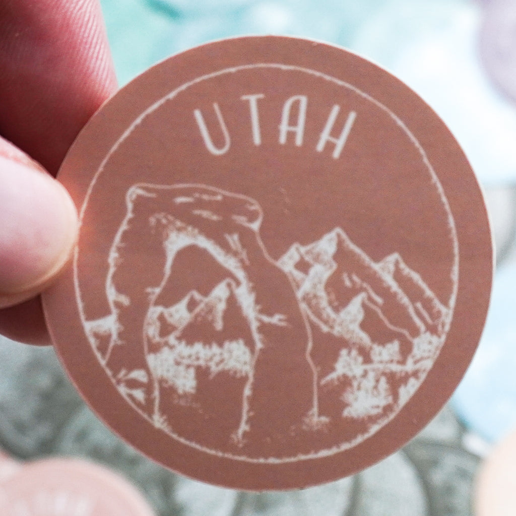 Utah Muave Sticker - Shop Back Home