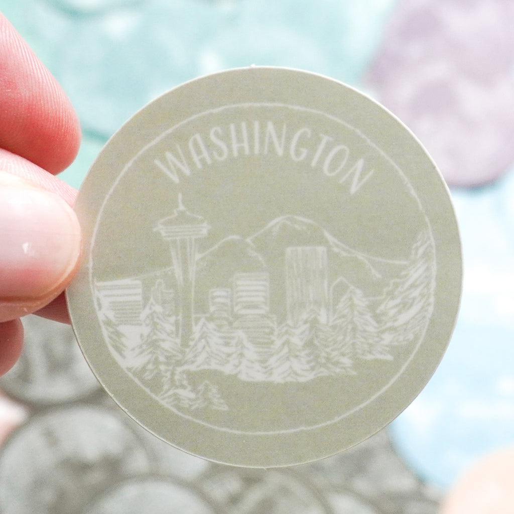Washington Sticker - Shop Back Home