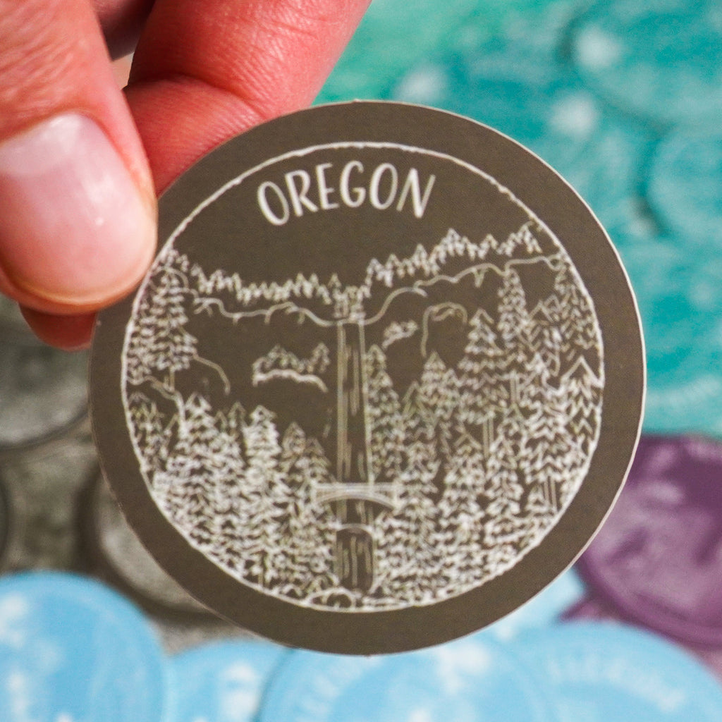 Oregon Sticker - Shop Back Home