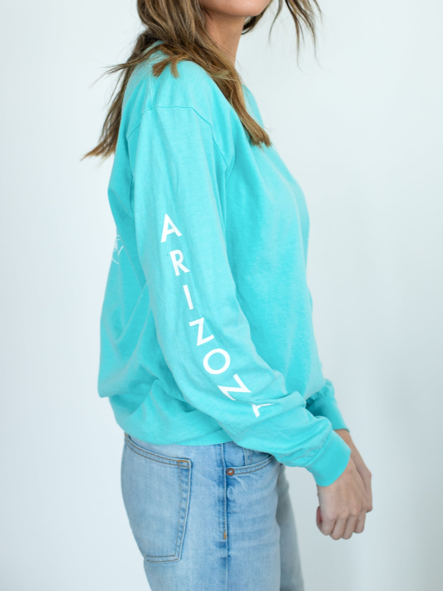 Arizona Long Sleeve T-Shirt - Bright Blue - Shop Back Home
