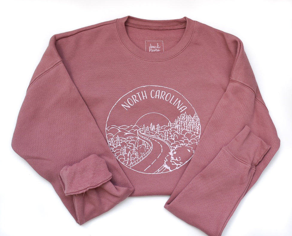 North Carolina Sweatshirt - Dusty Rose -Unisex - Shop Back Home