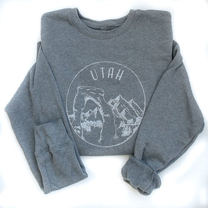 **Limited Edition** Light Grey Utah Sweatshirt - Unisex - Shop Back Home