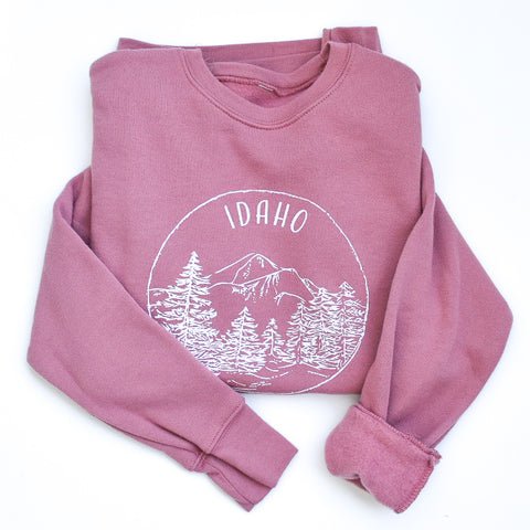 Dusty Rose Idaho Sweatshirt - Unisex - Shop Back Home