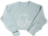 New York Sweatshirt - Mint Blue- Unisex - Shop Back Home