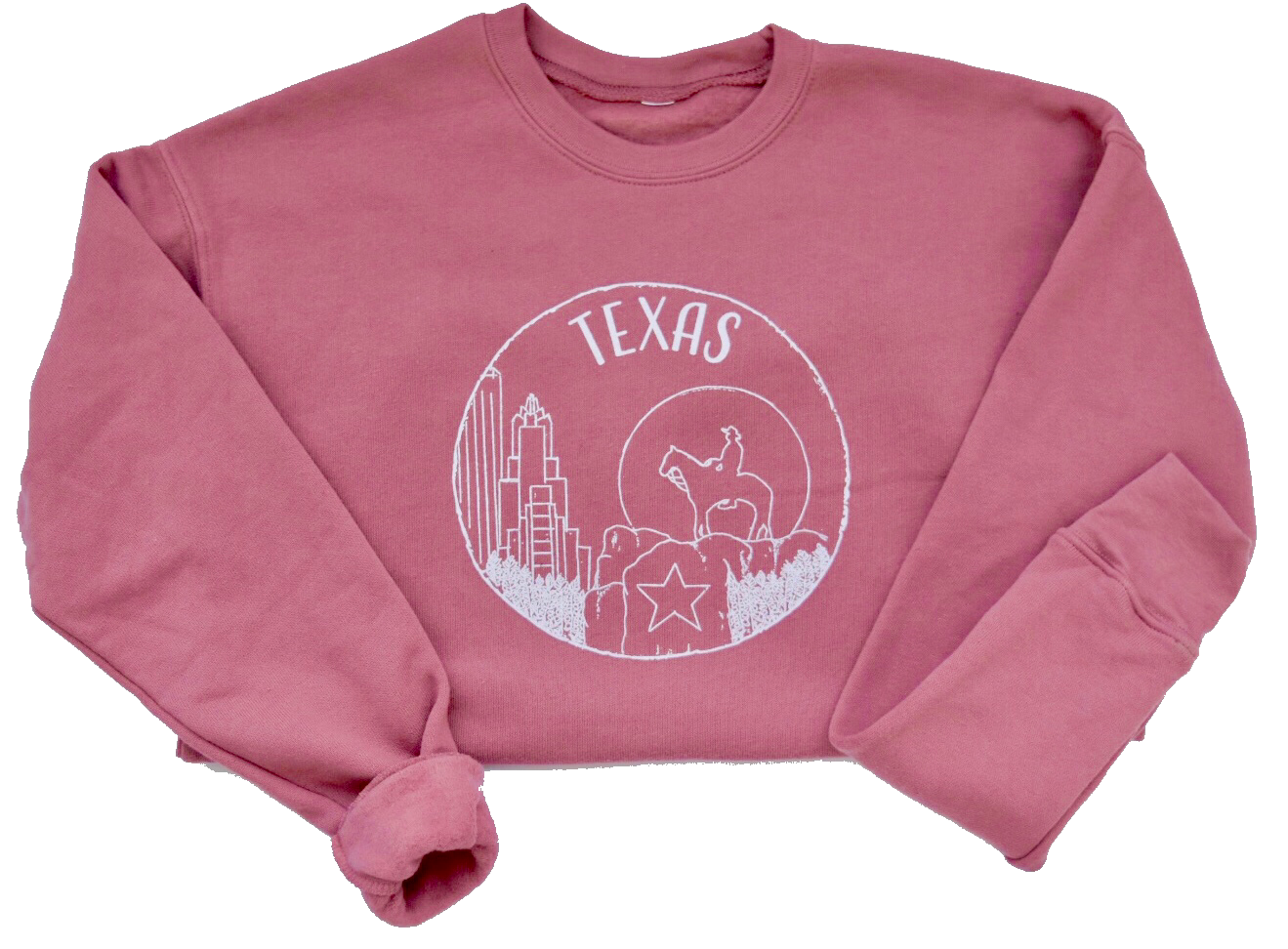 Texas - Dusty Rose Sweatshirt Unisex - Shop Back Home