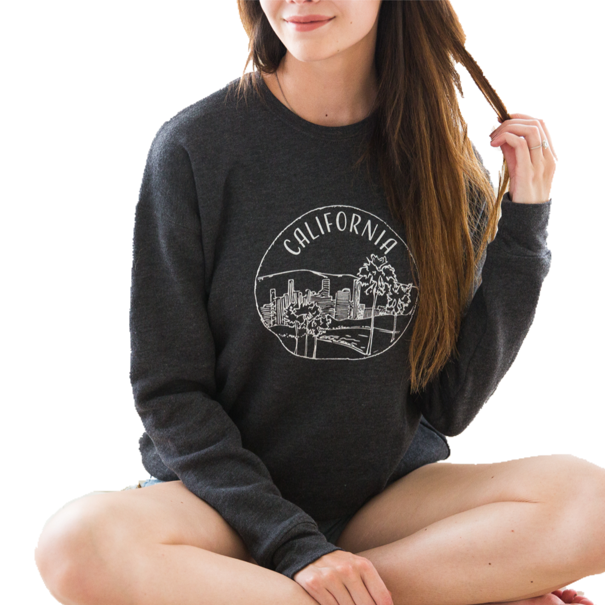 Southern California Crew-Neck Sweatshirt - Shop Back Home
