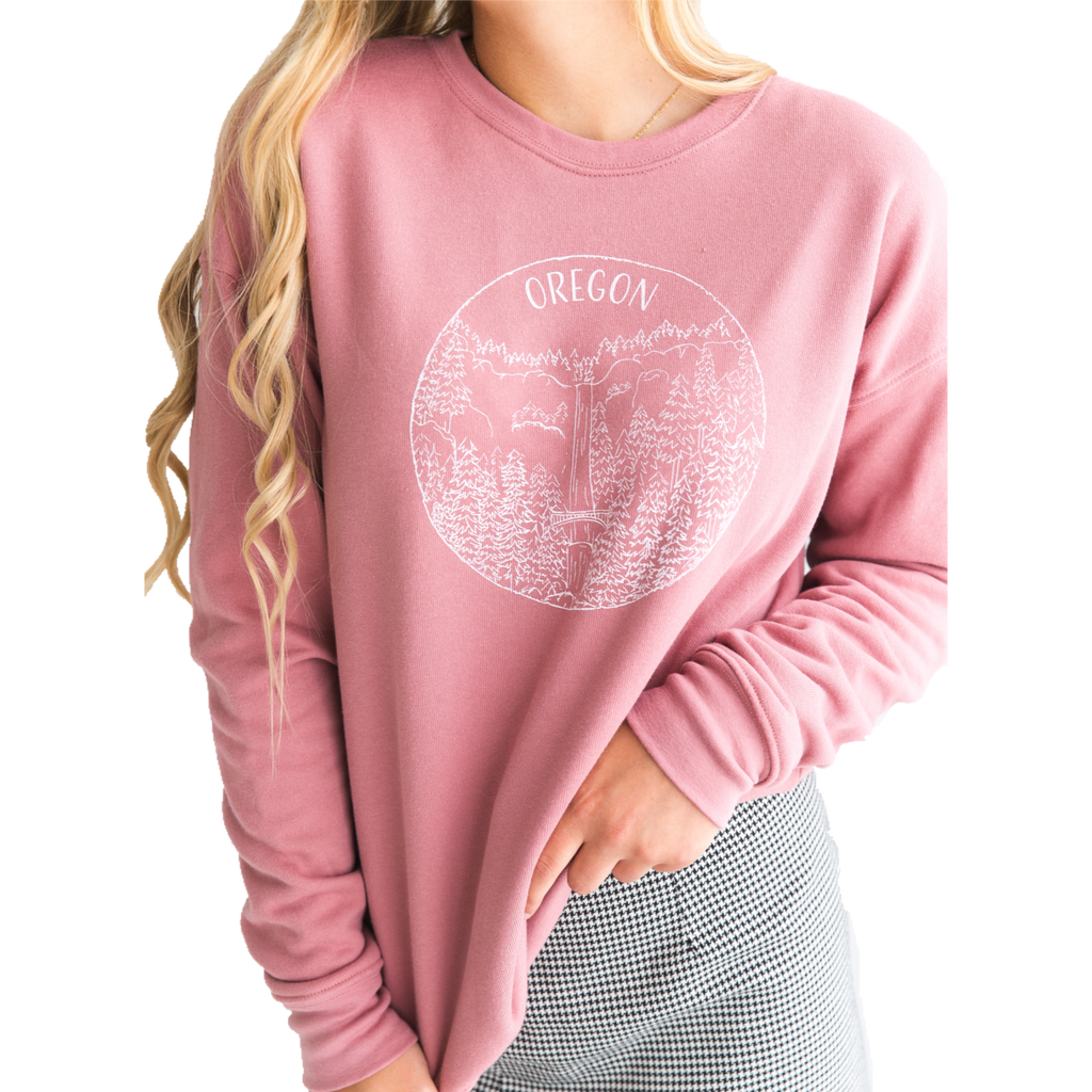 Oregon Sweatshirt - Dusty Rose - Unisex - Shop Back Home