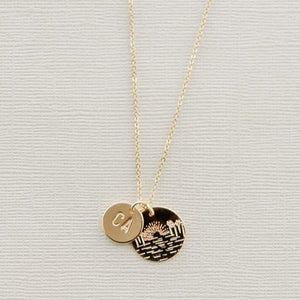 Beach Sunset State Necklace - Shop Back Home