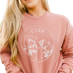Utah Sweatshirt - Dusty Rose -Unisex - Shop Back Home