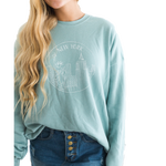 **SPECIAL EDITION** Hawaii Mint Blue Crew-neck Sweatshirt - Shop Back Home