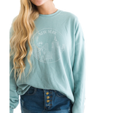 **SPECIAL EDITION** Hawaii Mint Blue Crew-neck Sweatshirt