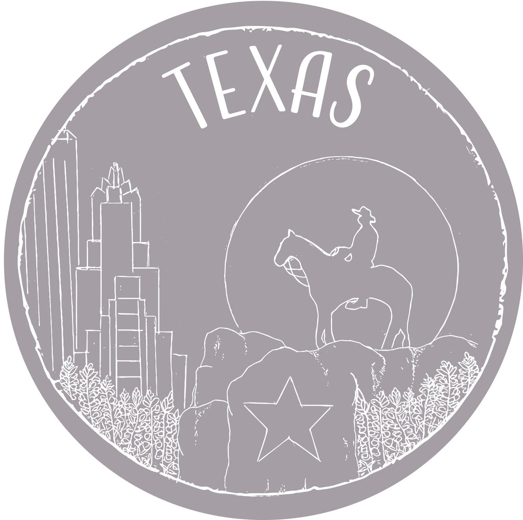 Texas Sticker - Shop Back Home