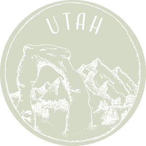 Utah Mint Sticker - Shop Back Home