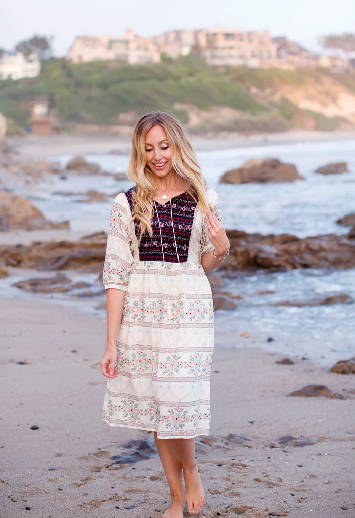 Celeste Tassel Tie Dress