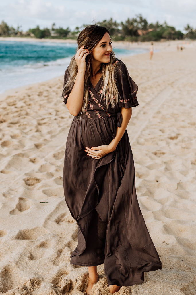 Cora Maxi in Charcoal