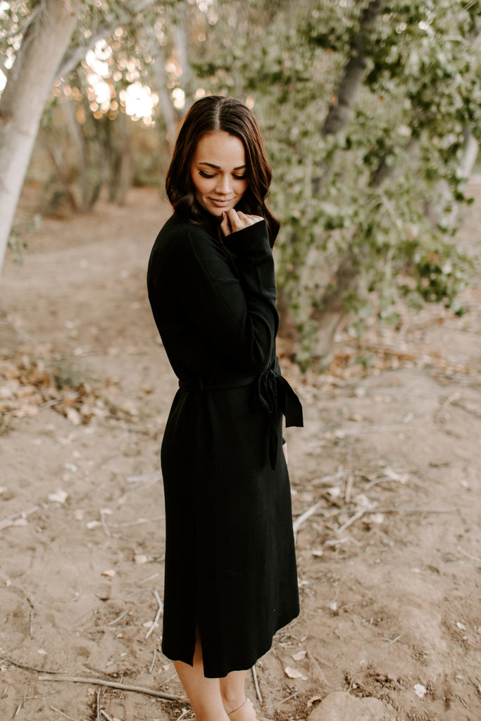 Kimber Sweater Dress in Black