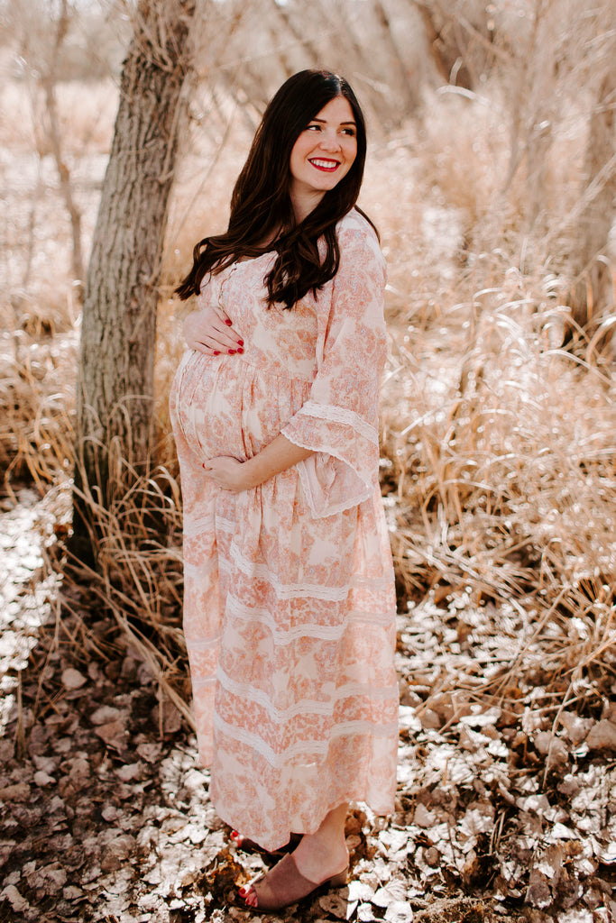 Willow Maxi in Peach Paisley