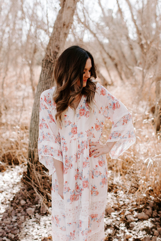 Willow Maxi in Pink Floral
