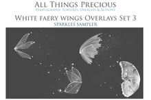 Load image into Gallery viewer, 14 Png WHITE FAIRY WING Overlays Set 3