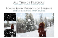 Load image into Gallery viewer, BOKEH SNOW Photoshop Brushes