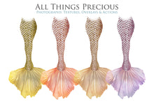 Load image into Gallery viewer, COLOURFUL MERMAID TAILS - Digital Overlays
