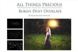 BOKEH DUST / SNOW Digital Overlays
