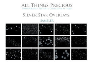 40 SILVER FOIL STAR Digital Overlays